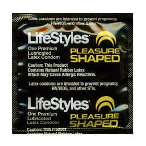 LifeStyles Pleasure Shaped Condoms