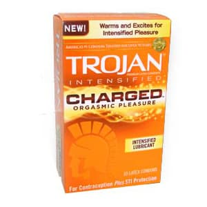 Trojan Charged Orgasmic Condoms