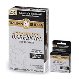 Trojan Supra Non-Latex BareSkin – best non-latex condoms latex free