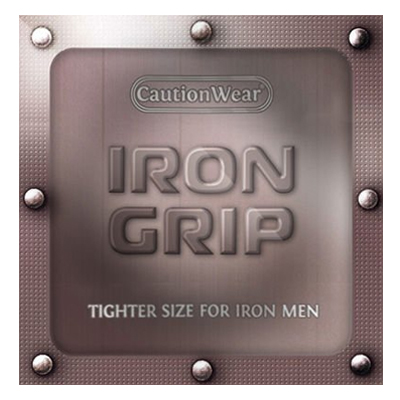 Caution Wear Iron Grip - Best Small Condom