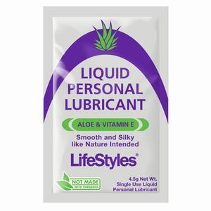 LifeStyles Aloe Lubricant Foil Packs