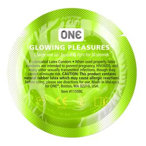 ONE Glowing Pleasure Condoms