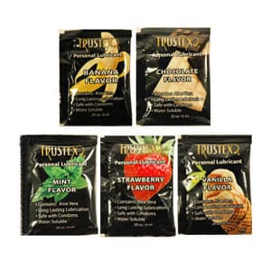 Trustex Assorted Flavored Lubricant Foil Packs