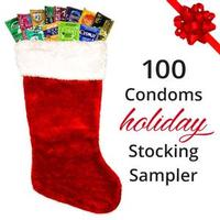 100 Condoms Holiday Stocking Sampler
