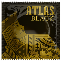 Atlas Black Condoms