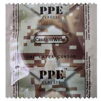 Caution Wear CAMOX PPE Condoms