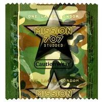 Caution Wear Mission 707 Studded Condoms