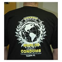 Black World's Best Condoms T-Shirt