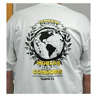 White World's Best Condoms T-Shirt